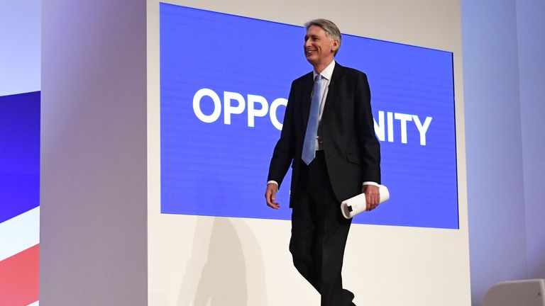 Phillip Hammond makes his conference speech