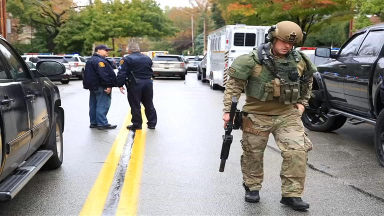 Pittsburgh police released audio of the moment they found the synagogue shooter