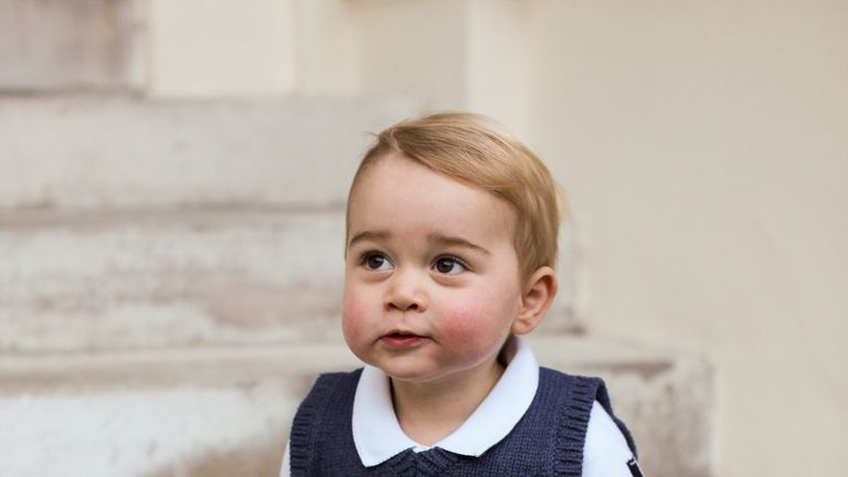 Prince George wearing a Catherine Kidston tank top