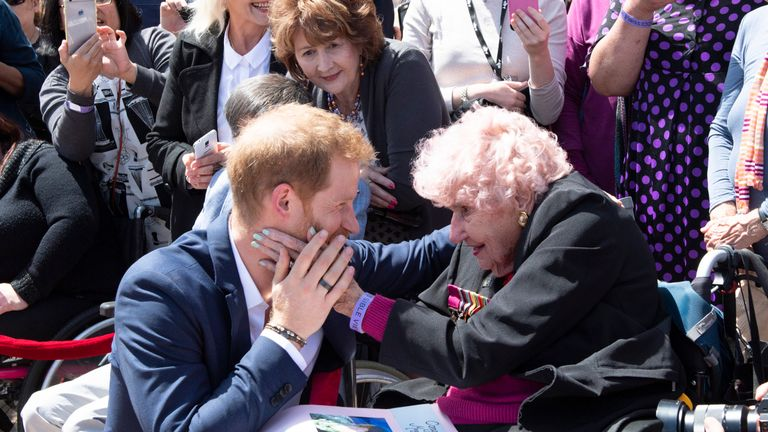 Prince Harry met Daphne Dunn in Sydney