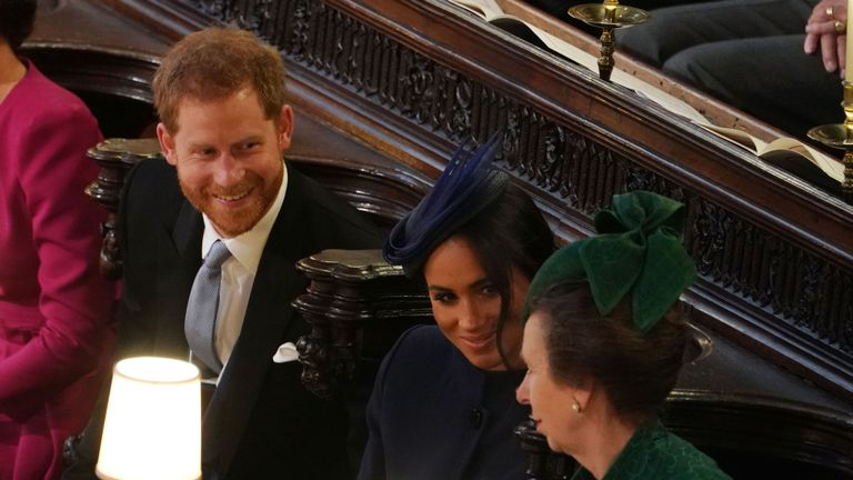 Prince Harry, Duke of Sussex, Meghan, Duchess of Sussex and Princess Anne, Princess Royal