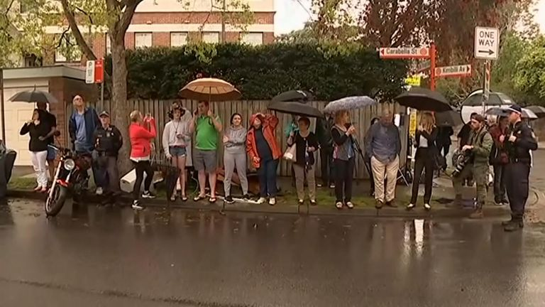 Australians braved the rain to catch a glimpse of the royal couple