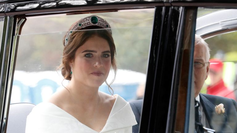 Princess Eugenie of York arrives