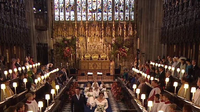 Princess Eugenie marries her fiance Jack Brooksbank at Windsor Castle