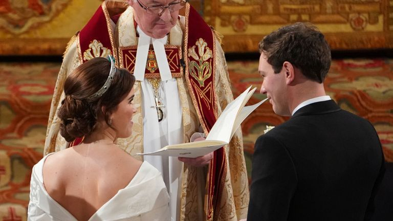 Princess Eugenie and Jack Brooksbank married at St George's Chapel in Windsor