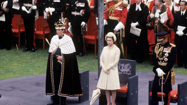 Charles' investiture as the Prince of Wales