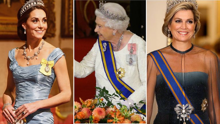 The Duchess of Cambridge, the Queen, and Queen Maxima of the Netherlands