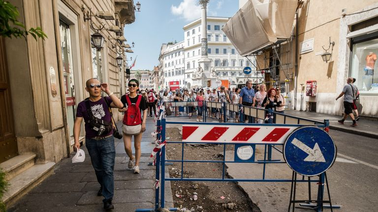 Rome's streets are full of potholes