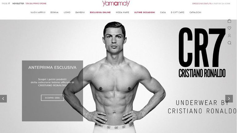 Cristiano Ronaldo models a line of underwear for Yamamay a few days after he was accused of raping a woman in 2009