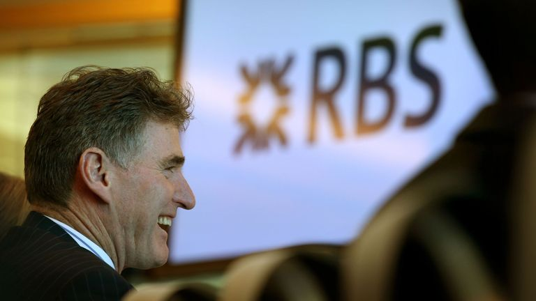 Ross McEwan, Chief Executive of RBS, after giving a speech to announce RBS is opening up its global headquarters in Edinburgh to key Scottish business organisations and entrepreneurs to encourage entrepreneurialism and promote economic growth
