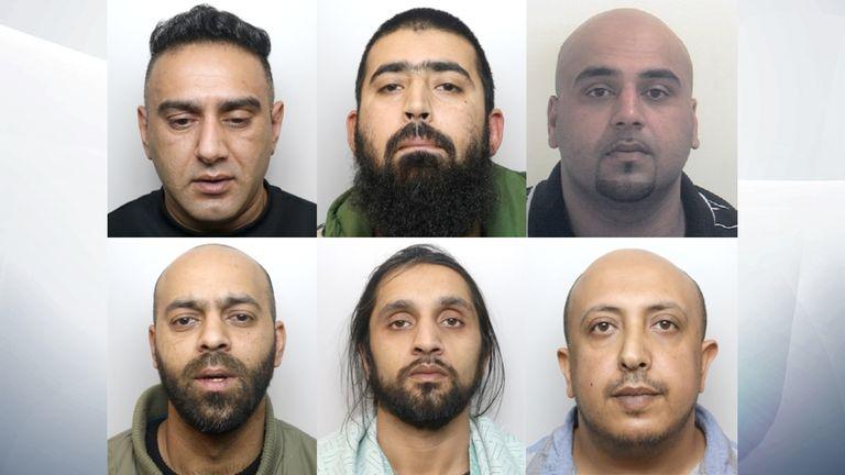 Clockwise from top left: Nabeel Kurshid, Mohammed Akhtar, Asif Ali, Salah El-Hakam, Tanweer Hussain Ali, Iqlak Yousaf