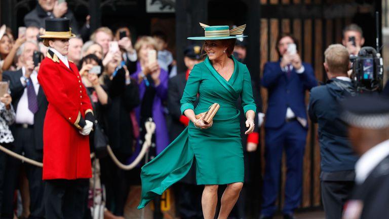 Sarah, Duchess of York, arrive