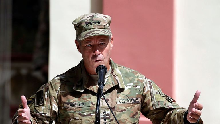 General Scott Miller was the target say Taliban