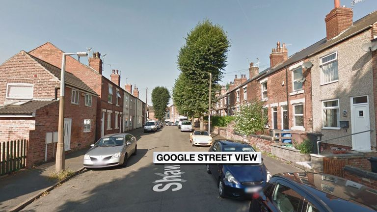 Shaw Street West, where a boy was found after a house fire