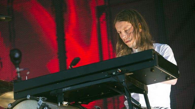 Orri Pall Durason of Sigur Ros performs at the 24th Sziget Festival in Budapest Hungary 13 August 2016. Pic: Balazs Mohai / Epa/REX/Shutterstock
