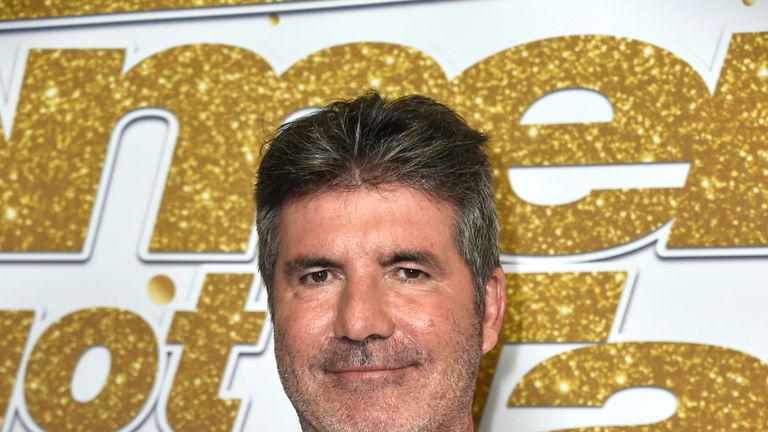 Simon Cowell at America's Got Talent Season 13 live show red carpet at Dolby Theatre in Hollywood, California