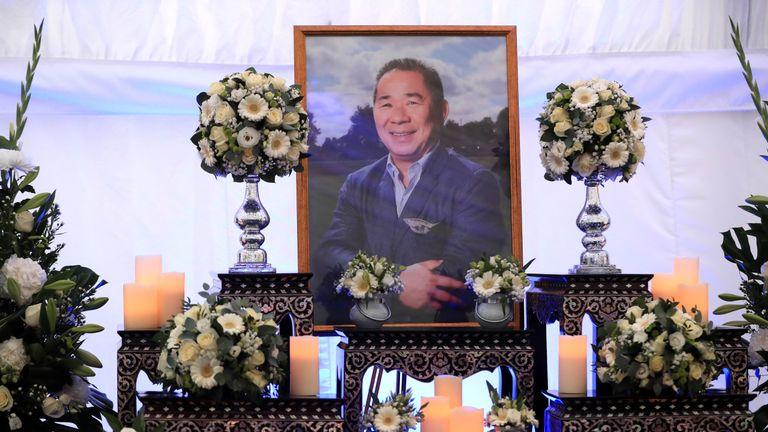 A book of condolence for Leicester Chairman Vichai Srivaddhanaprabha at Leicester City Football Club