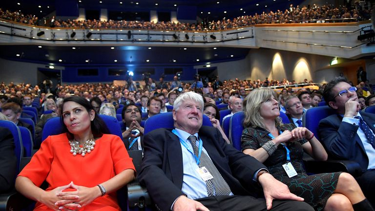Boris Johnson's father Stanley Johnson, his sister Rachel Johnson and Conservative MP Priti Patel