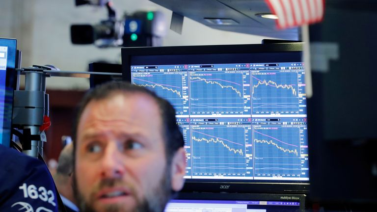 Shares in New York were volatile again on Thursday