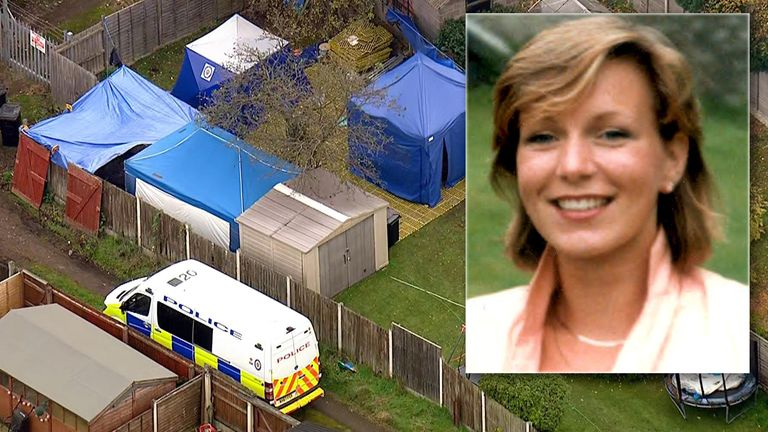 Police have been digging up a garden in their search for Suzy Lamplugh