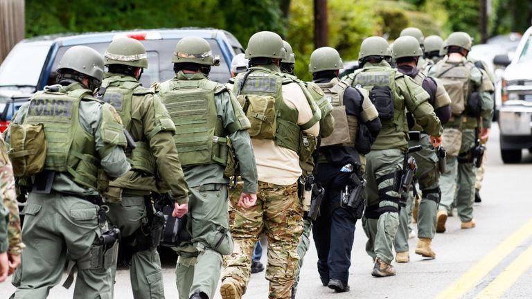 SWAT members at the scene