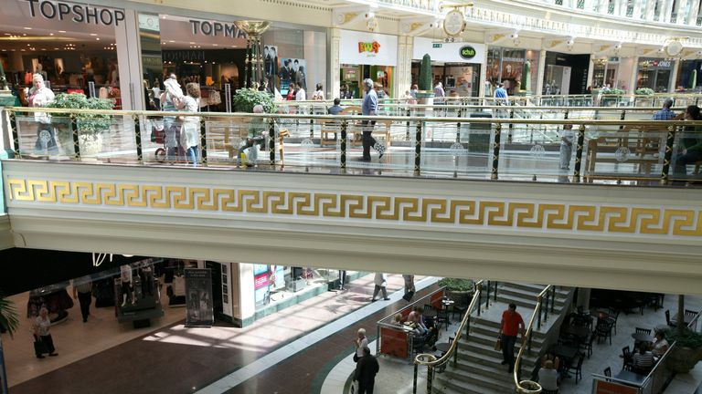 General view of the Trafford Centre in Manchester