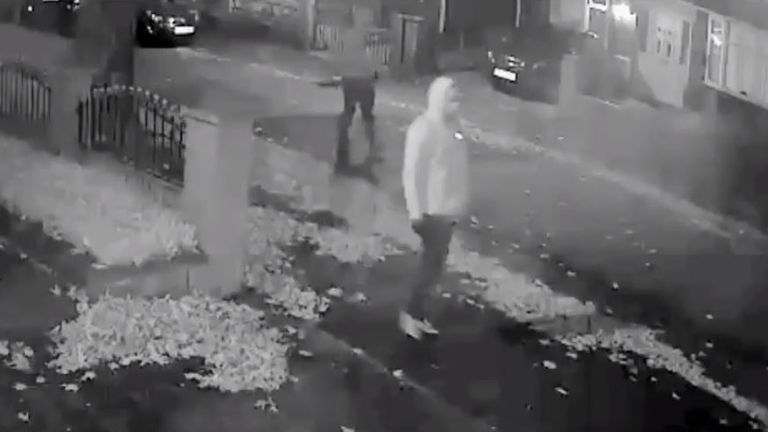 The thieves were caught on CCTV footage