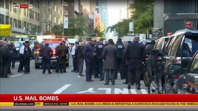 Police at the scene in Tribeca