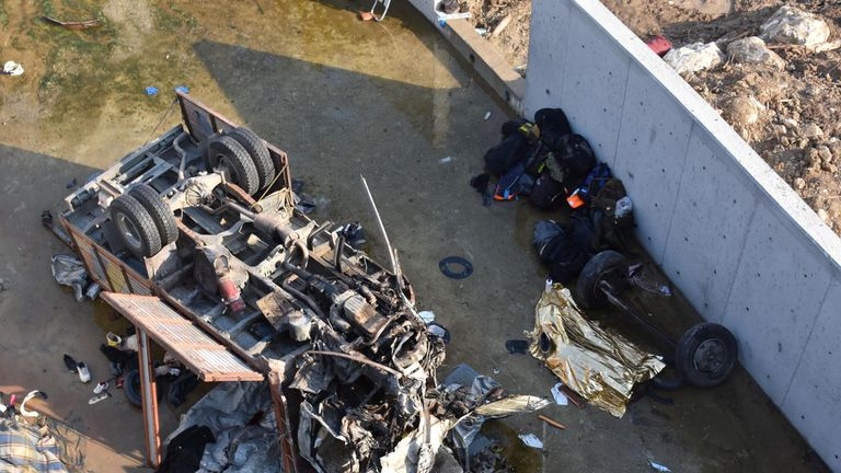 The truck was carrying a number of migrants who died when it crashed