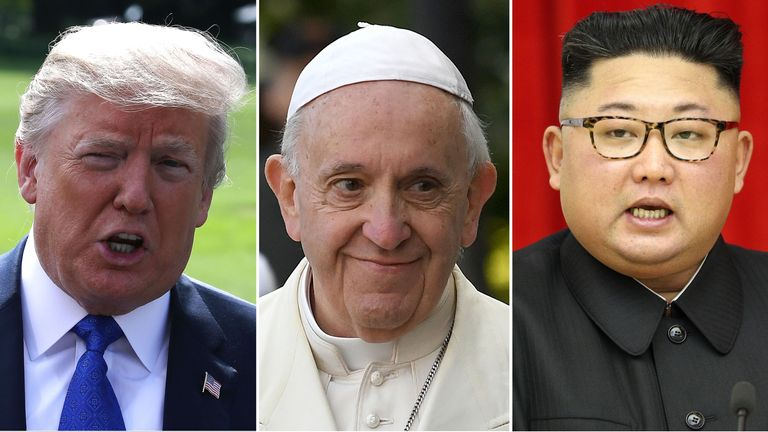 Donald Trump, Kim Jong Un and the Pope are among the favourites for the Nobel Peace Prize