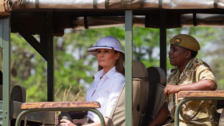Melania Trump's choice of hat caused criticism
