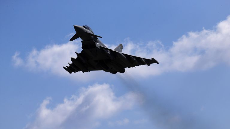 The RAF has had to scramble jets more than 80 times in the last decade