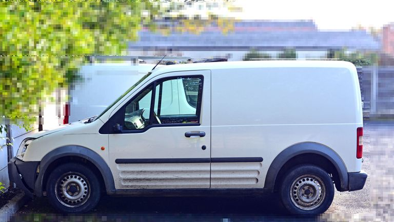 Police have issued a photo of the stolen van that collided with Leo