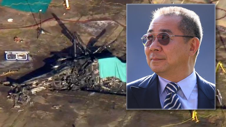 Vichai Srivaddhanaprabha was on a helicopter that crashed outside the stadium
