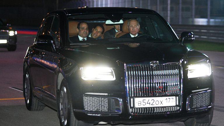 Russian President Vladimir Putin and Egyptian President Abdel Fattah al-Sisi