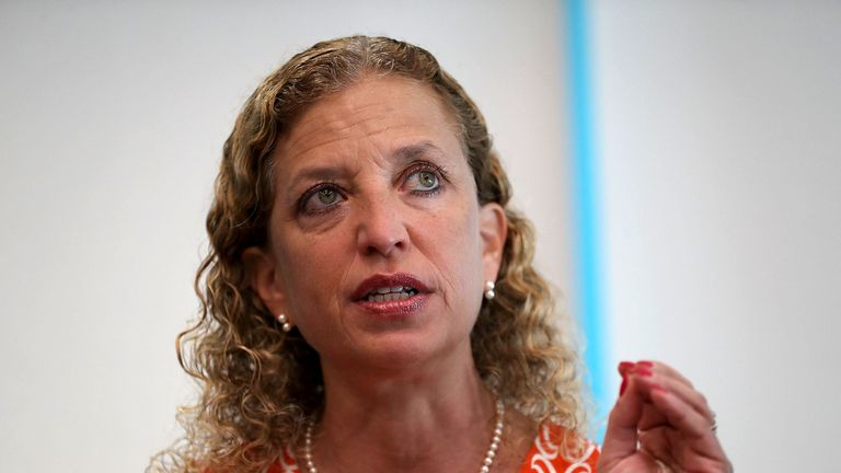 The package sent to Ms Schultz's office was reportedly addressed to attorney general Eric Holder