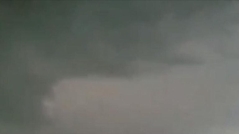 Waterspout forms in Massachusetts and possibly evolves into tornado