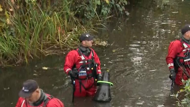 Police divers are searching the river Darent in Dartford town centre