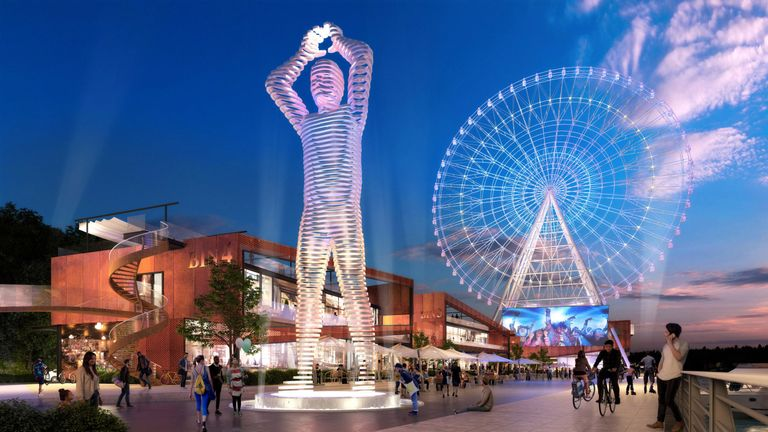 The wheel, dubbed the Whey Aye, will stand at nearly 460ft (140m)