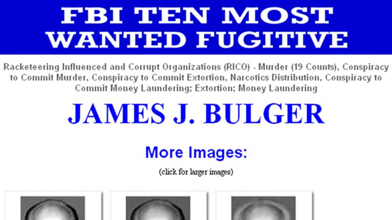 Bulger was one of the FBI's most wanted men