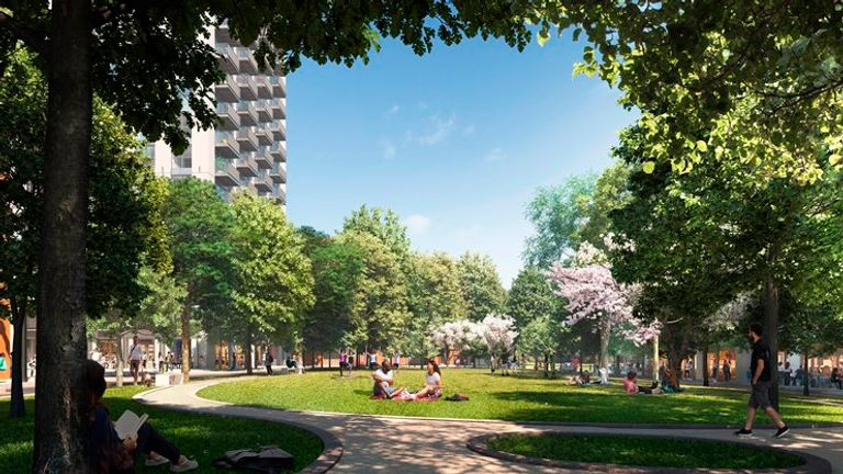 Canary Wharf Group says Wood Wharf is for 'Londoners with ambition'. Pic: CWG