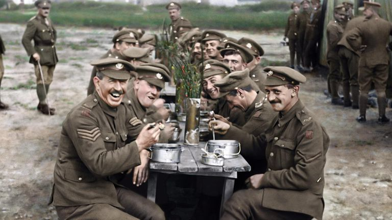 Director Peter Jackson's film sources original footage from WWI, bringing  it to life with colour and voices of those that fought