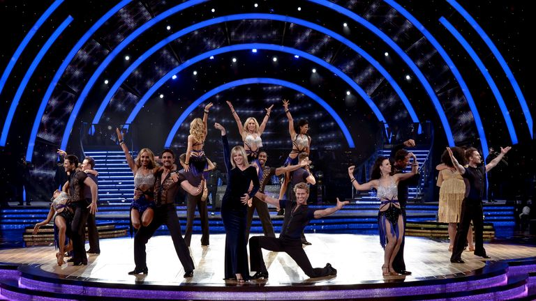 Zoe Ball dances with Kevin Clifton and others to launch the Strictly Come Dancing Live Tour 2015