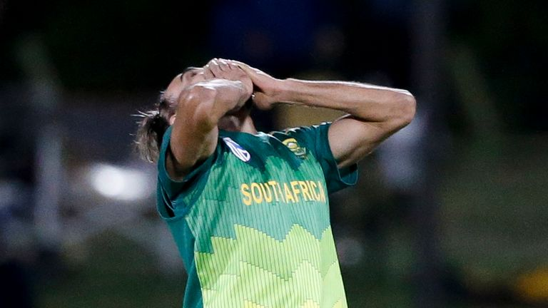 Imran Tahir destroyed Zimbabwe's middle order as he became the fourth South African to take an ODI hat-trick.