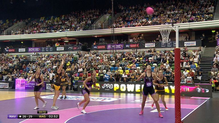 Rachel Dunn struck three 10-pointer for Wasps against the Mavs earlier in the tournament