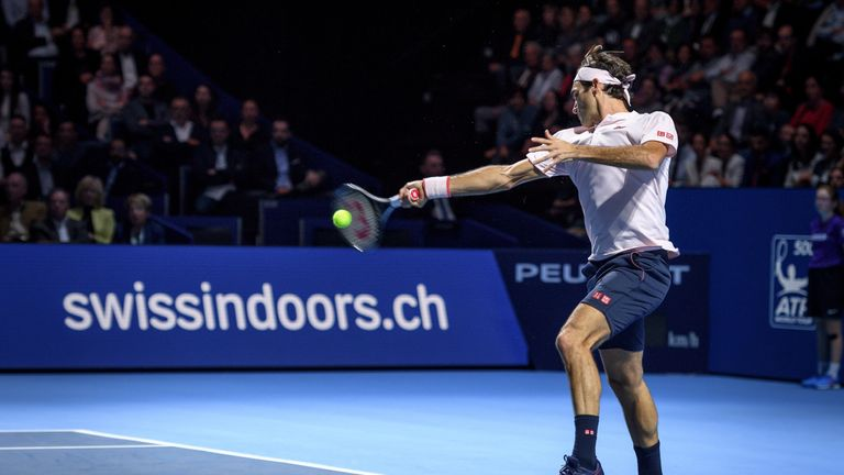 Roger Federer beats Filip Krajinovic in tennis tournament — ATP Basel