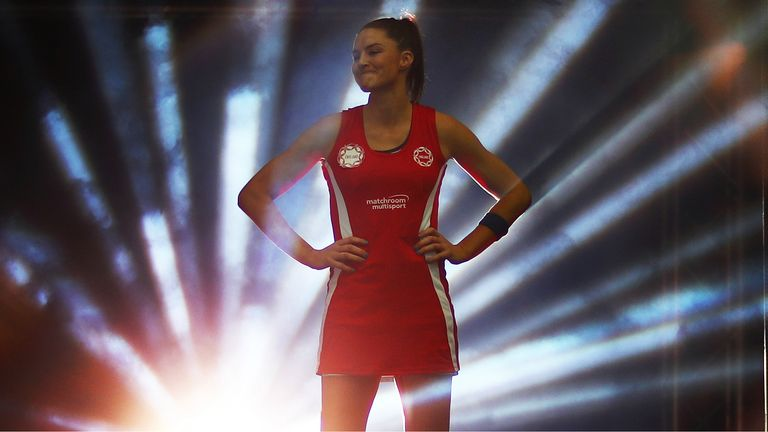 Sharni Layton was true to her word by wearing the England Roses kit at the British Fast5 All-Stars Championship