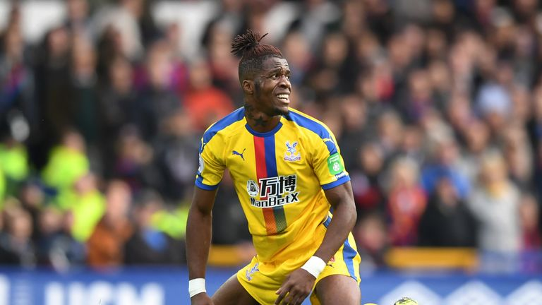 Wilfried Zaha rues a missed opportunity at Goodison Park