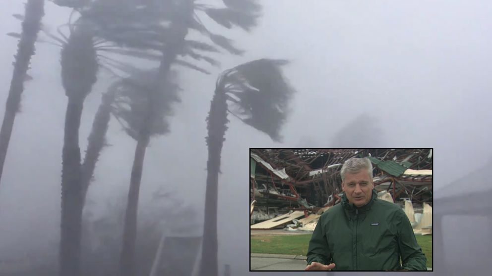 Watch as Florida man gets rare look inside Hurricane Michael's eye
