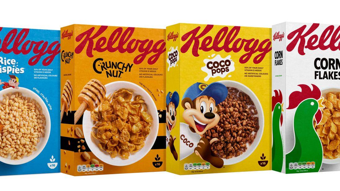 Kellogg's is adopting a traffic light labelling system on most of its cereal packaging